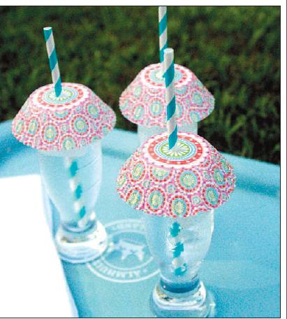 Bug Umbrellas for Party Drinks (photo by Cindy McNatt, Orange County Register)