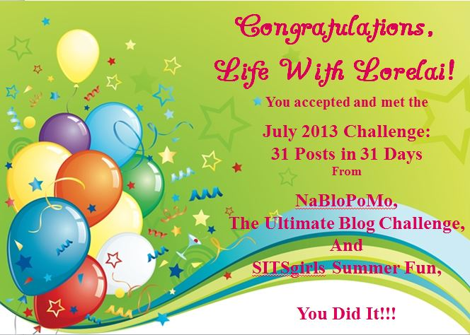 Congrats - July 2013 Post Challenge