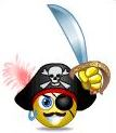 Pirate emoticon - no border
