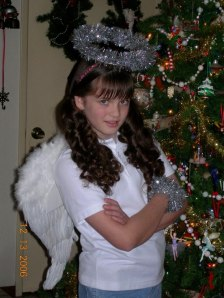 Rory - as Norma Gene, Angel with Attitude - Christmas Play 2006 - rz