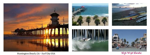 Huntington Beach, CA - Surf City, USA Collage