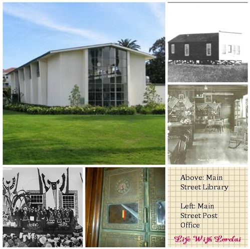 Huntington Beach Library and Post Office Collage