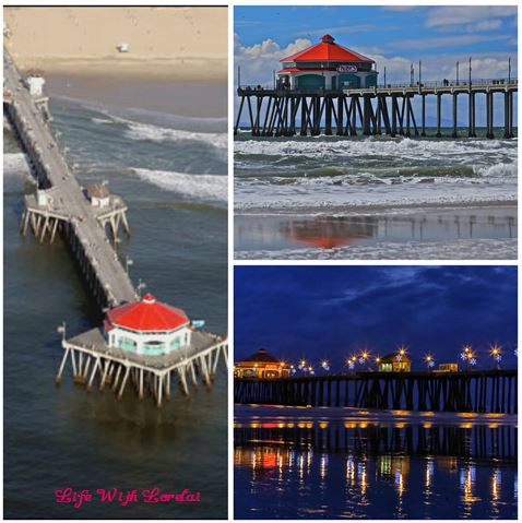 Huntington Beach Ruby's Dine - Pier Collage