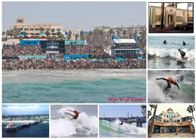 Huntington Beach Surfing Collage