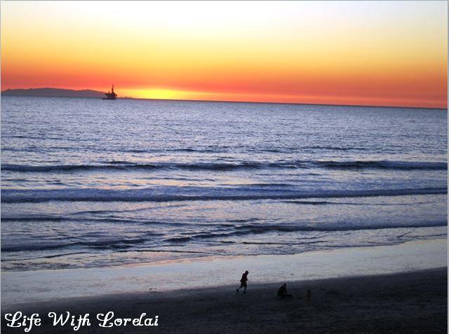 Huntington Beach, CA - Sunset at the Beach