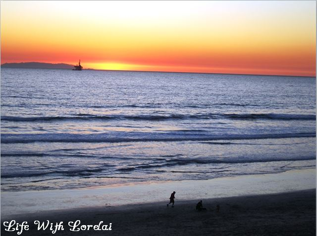 Huntington Beach, CA - Sunset at the Beach