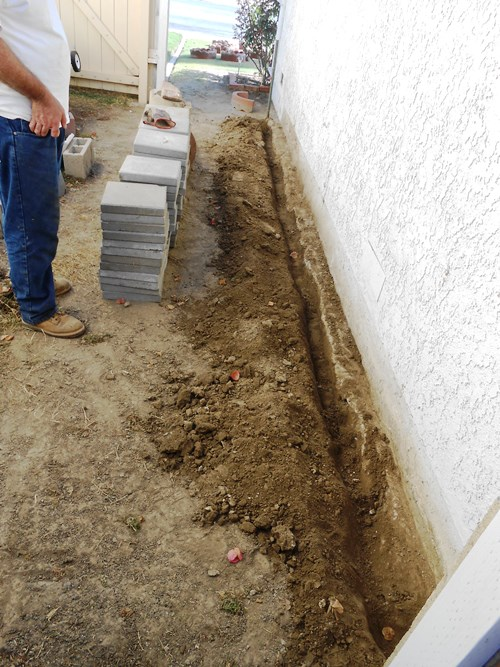 Trench for Cement Curb