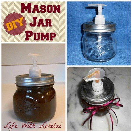 DIY Mason Jar Pump - Life With Lorelai 500x500