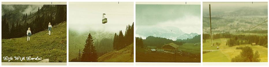 Family Trip Mt Pilatus, Switzerland 1971 - Collage1