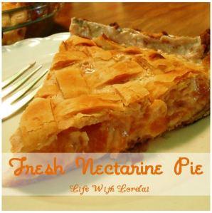 Fresh Nectarine Pie - Featured Recipe Photo