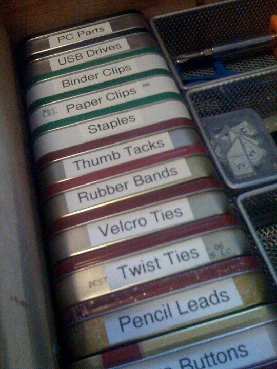Labled Mint Tins - Organize | Life With Lorelai