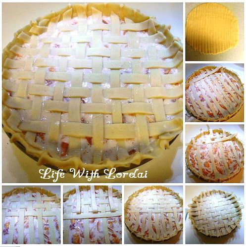 Lattice Top Pie Crust Collage