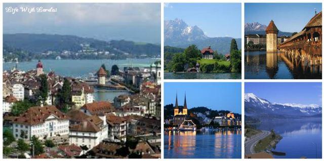Lucerne Valley, Switzerland Collage