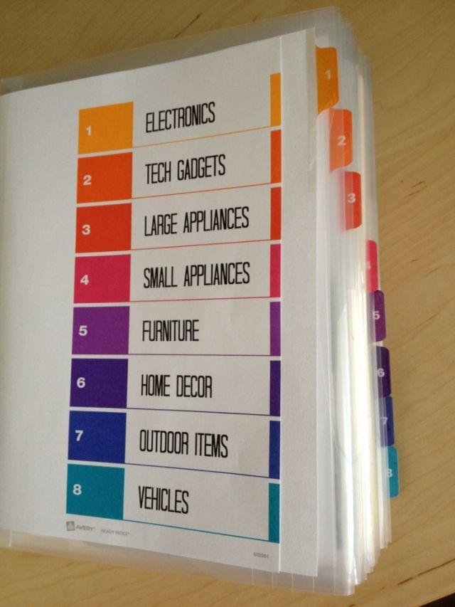 Organize Big Ticket Receipts-Manuals-Warranties - DIY Tutorial | Life With Lorelai