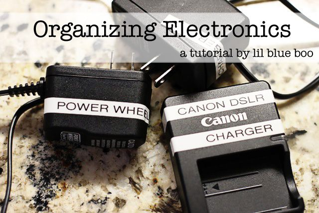 Organize Electronics - Label Chargers and Cords | Life With Lorelai