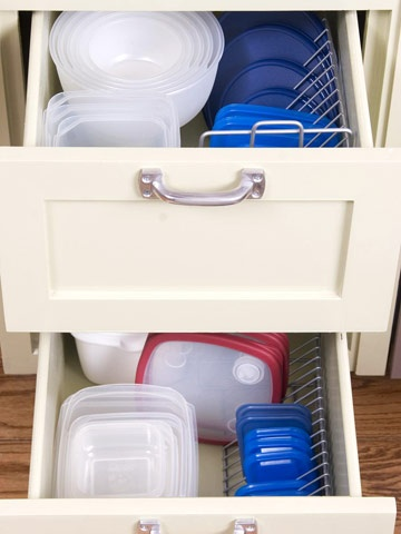 Organize Plastic Storage Container Lids with CD Holder | Life With Lorelai
