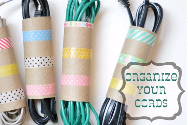 Organize Your Cords DIY Project with toilet Paper Rolls | Life With Lorelai