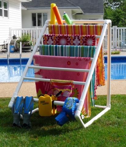 Pool Towel & Accessory Organizer |Life With Lorelai