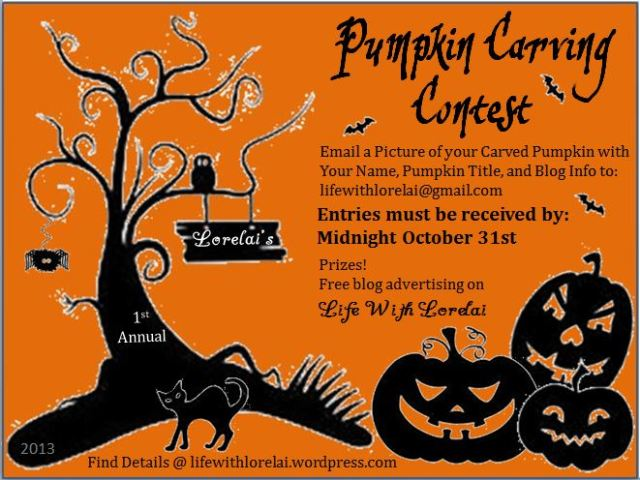 Pumpkin Carving Contest - Life With Lorelai 2013