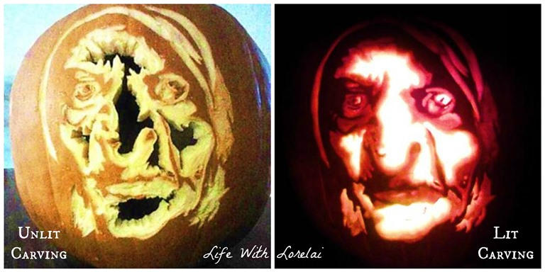 Brunhilda Pumpkin Carving Comparison | Life With Lorelai