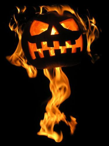 Flaming Pumpkin | Life With Lorelai