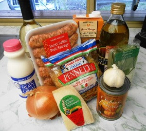 Ingredients for Pasta with Pumpkin and Sausage | Life With Lorelai
