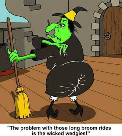 Long Broom Ride Wicked Wedgie |Life With Lorelai