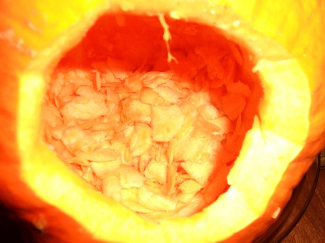 Pumpkin Gutter doing its job | Life With Lorelai