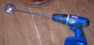 Pumpkin Gutter on Power Hand Drill