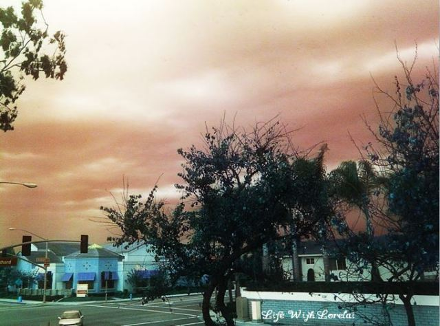 Weird Weather Sky - Huntington Beach, CA