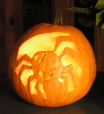 Spider Pumpkin Carving - Natalie - MayPopShop