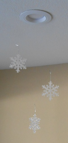 Snowflakes ion the recessed Lighting | Life With Lorelai