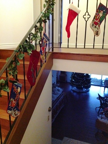 Stockings on the Staircase - Life With Lorelai